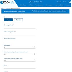 Retirement Planning Calculator: Pension Calculator - Aegon Life
