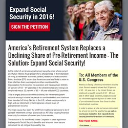 America's Retirement System Replaces a Declining Share of Pre-Retirement Income – The Solution: Expand Social Security!