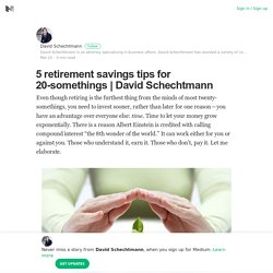 5 retirement savings tips for 20-somethings