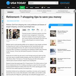 Retirement: 7 shopping tips to save you money