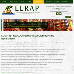 ELRAP Retireology: Resources for Philippine Retirement