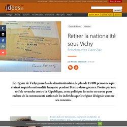 Retirer la nationalité sous Vichy