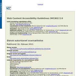 Retningslinjer for tilgængeligt webindhold (WCAG) 2.0