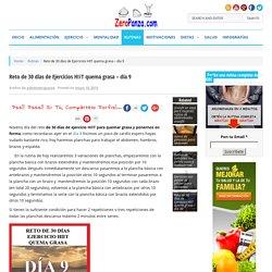 Reto de 30 días de Ejercicios HIIT quema grasa – día 9