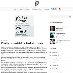 El reto ¿imposible? de traducir poesía -