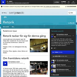 Retorik - Sveriges radio
