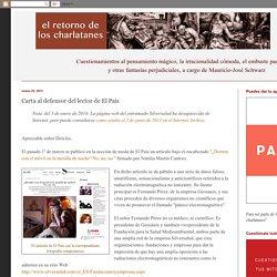 Carta al defensor del lector de El País