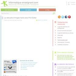 La retouche d'image facile avec Pixlr Editor