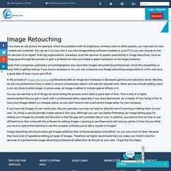 image retouching service