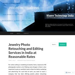 Jewelry Photo Retouching and Editing Services in India at Reasonable Rates