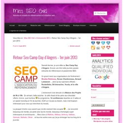Retour Seo Camp Day d'Angers – 1er juin 2013
