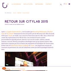 Retour sur CityLab 2015