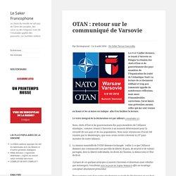 OTAN : retour sur le communiqué de Varsovie