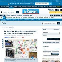 Le retour en force des consommateurs de crack dans le Nord-Est parisien