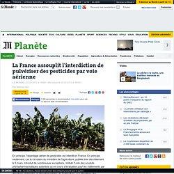 Retour de l'épandage aérien des pesticides