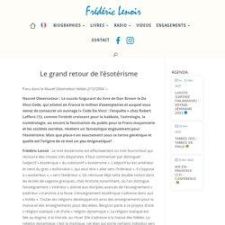 Le grand retour de l'ésotérisme – Frédéric Lenoir