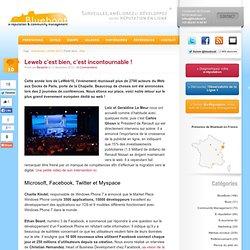 LeWeb'2010 : retour d'expérience de cet évènement