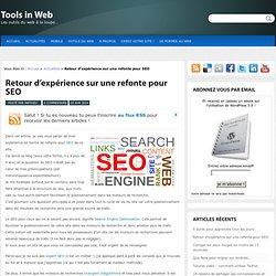 Retour d'expérience sur une refonte pour SEO - Tools in Web : Tools in Web