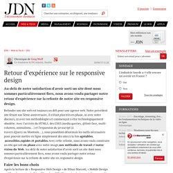 Retour d'expérience sur le responsive design