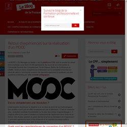Retour d'expériences sur la réalisation d'un MOOC