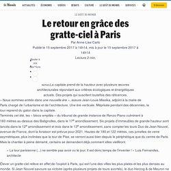 Le retour en grâce des gratte-ciel à Paris