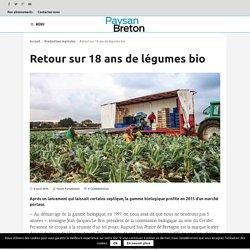 PAYSAN BRETON 08/04/16 Retour sur 18 ans de légumes bio