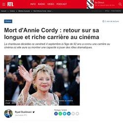 Mort d'Annie Cordy : retour sur sa longue et riche carrière au cinéma...
