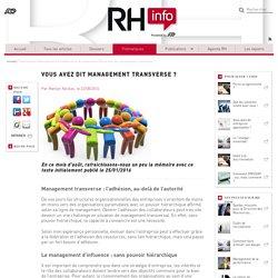 Retour sur le management transverse