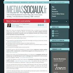 Médias sociaux » Archive du blog » Retour de flamme pour le s