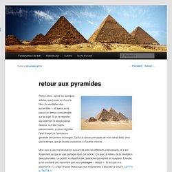 retour aux pyramides