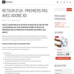 Retour d'UX : premiers pas avec Adobe Xd