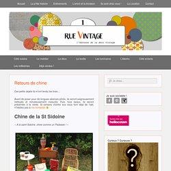 Retours de chine - 1 Rue Vintage