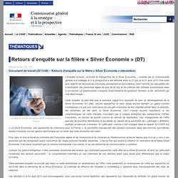 """Retours d'enquête sur la filière """"Silver Économie"""" (DT)"""