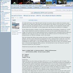 GR5-52 : de La Roche de Rame à Menton (Page 1) / Retours du terrain