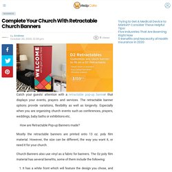 Complete Your Church With Retractable Church Banner