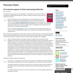 First retraction appears for Dutch anthropologist Mart Bax