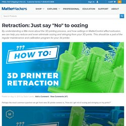 "Retraction: Just say ""No"" to oozing"