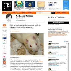 Rat retraction reaction: Journal pulls its GMOs-cause-rat-tumors study