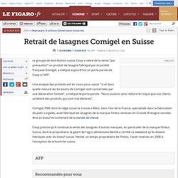 AFP 02/02/13 Retrait de lasagnes Comigel en Suisse