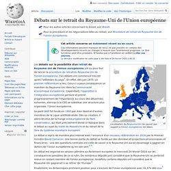 Débats sur le retrait du Royaume-Uni de l'Union européenne