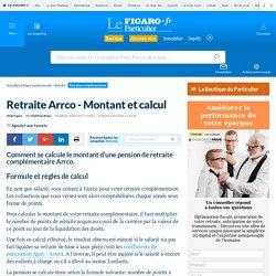 Retraite Arrco - Montant et calcul