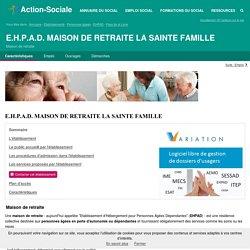 TEILLE : E.H.P.A.D. MAISON DE RETRAITE LA SAINTE FAMILLE - Maison de retraite - Contacts et Informations