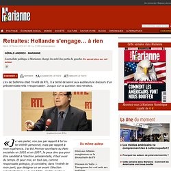 Retraites: Hollande s'engage… à rien