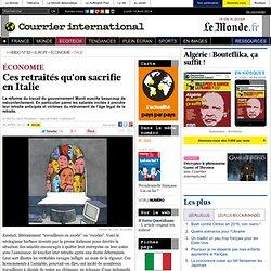 Ces retraités qu'on sacrifie en Italie