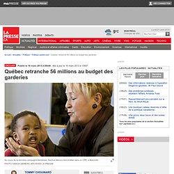 Québec retranche 56 millions au budget des garderies