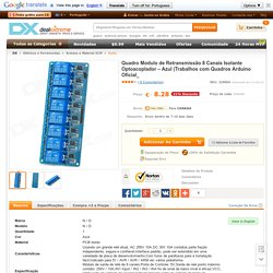 8-Channel Relay Module Board w/ Optocoupler Isolation -Blue (Works with Official Arduino Boards