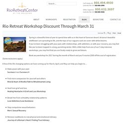 Rio Retreat Workshop Discount Through March 31