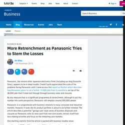 3.9.1 More Retrenchment as Panasonic Tries to Stem the Losses