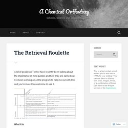 The Retrieval Roulette – A Chemical Orthodoxy