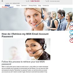 How do I Retrieve my MSN Email Account Password